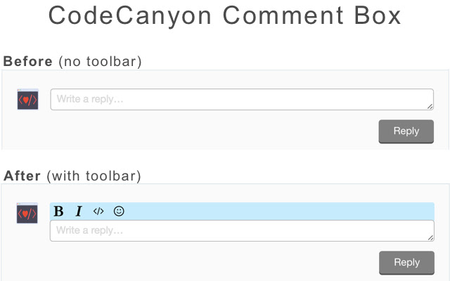 CodeCanyon Toolbar
