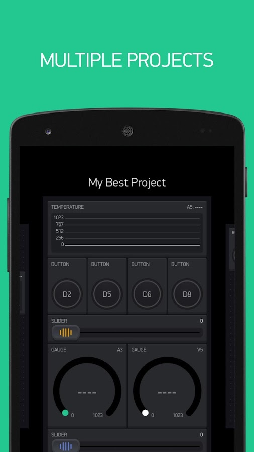Screenshots of Blynk for iPhone