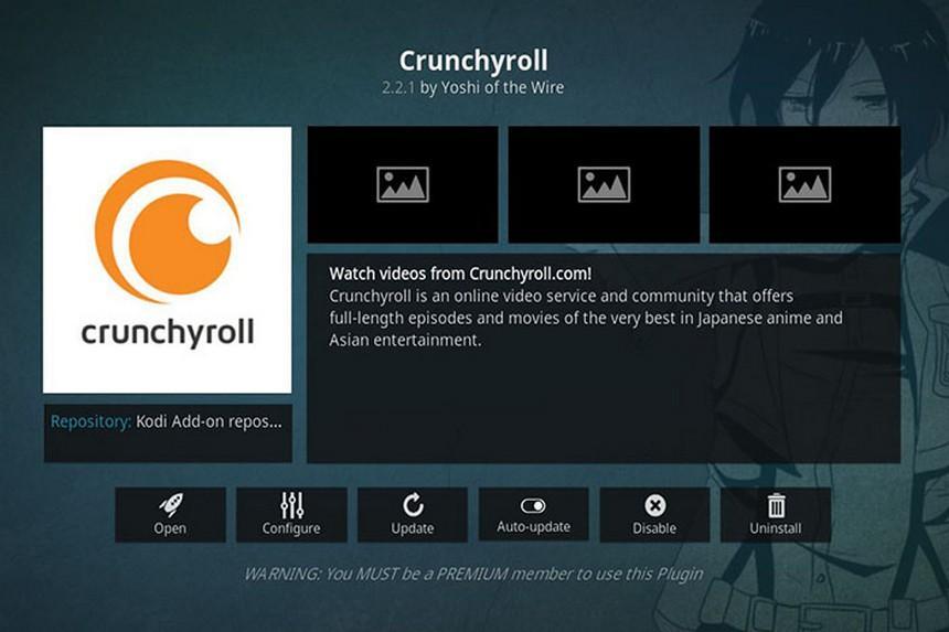 crunchyroll kodi anime addon