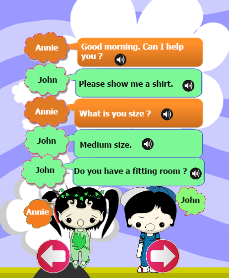 daily english conversation text This english listening web site created by randall davis helps esl/efl students  improve their listening comprehension skills through practice with  [ listen to  everyday conversations with adult and children's voices ]  voice and text  chat.