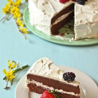 Chocolate Marzipan Cake.