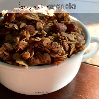 Easy Homemade Honey Nut Granola Makes A Great Breakfast Or Snack!.