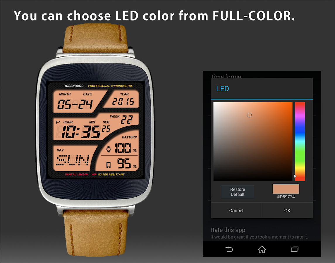 Designer android wear watchface - A41 Watchface For Android Wear Screenshot