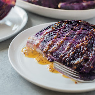 Roasted Cabbage with Mustard Vinaigrette