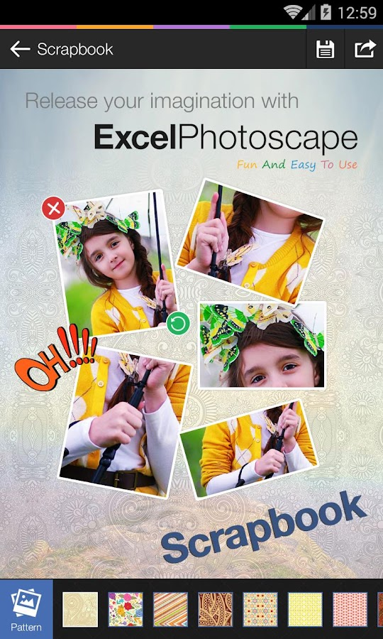 Photoscape by Excel- screenshot