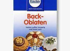 NOTE: Bach Oblaten Rounds can be purchased at a German deli if you have...