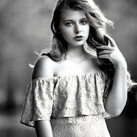 Miss Chloe by Sylvester Fourroux - Black & White Portraits & People