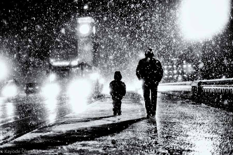 Photo: London When It Snows: Father & Son