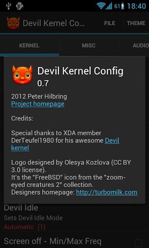 Devil3 kernel download.