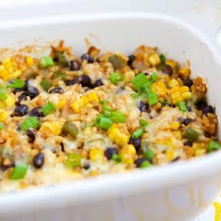 Vegetarian Rice & Bean Casserole.