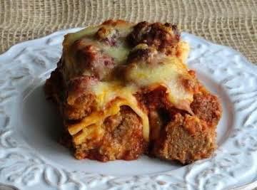 Meat Ball Lasagna
