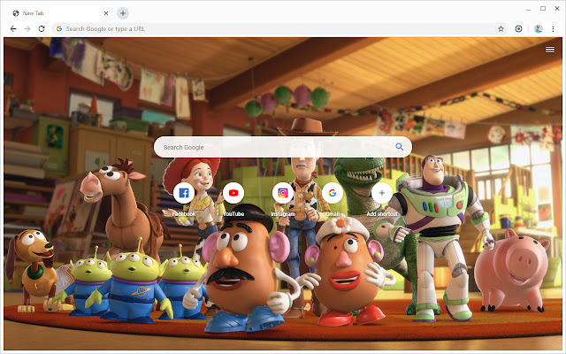 New Tab - Toy Story 4