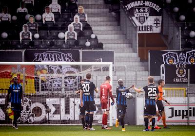 Il y avait des supporters en...carton lors d'Eupen-Club de Bruges