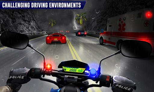 Police Moto Bike Highway Rider Traffic Racing Game modavailable screenshots 2