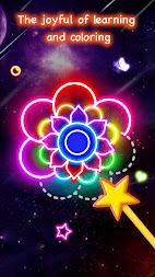 Learn To Draw Glow Flower APK screenshot thumbnail 1