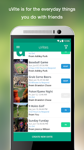 uVite - Group Activity Planner