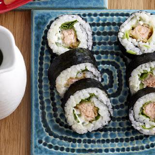 Salmon Tempura Rolls.