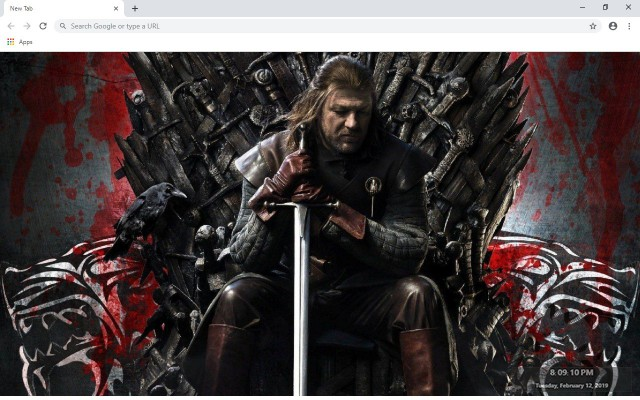 Eddard Stark New Tab Wallpapers Collection