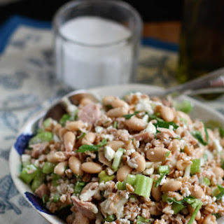 Italian Tuna and White Bean Farro Salad