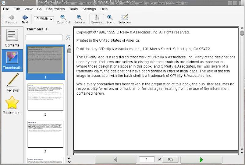 KDE4 okular