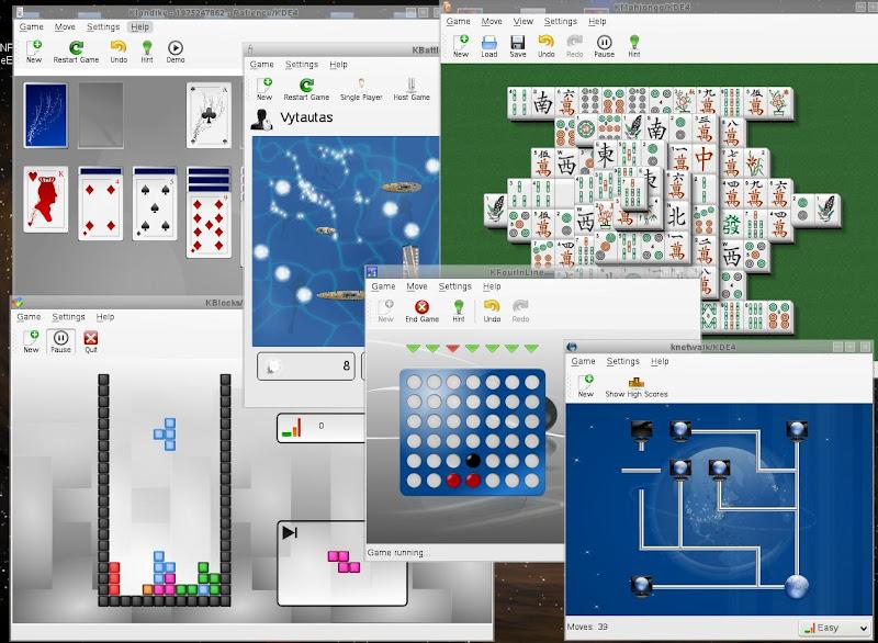 KDE4 žaidimai