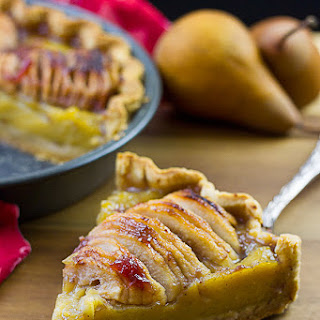 Vegan Pear Custard Pie with Oil-based Pie Crust