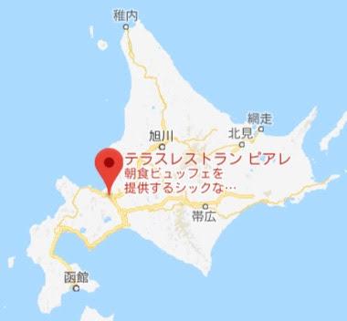 地図:テラスレストラン ピアレ