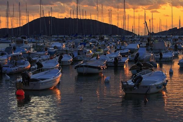 Barche al tramonto di Caddy