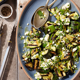 Grilled Zucchini with Lemon-Herb Feta.