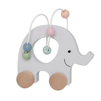 Pull elephant with abacus