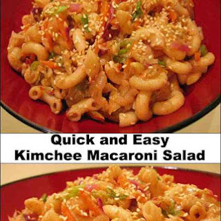 Quick and Easy Kimchi Macaroni Salad