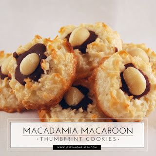 Macadamia Macaroon Thumbprint Cookies.
