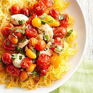 Roasted Cherry Tomato Chutney on Squash.