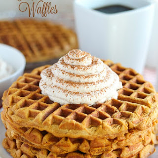 Gingerbread Waffles with Cinnamon Whipped Cream