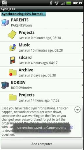 SyncMe Wireless 3.2.9611 screenshots 1