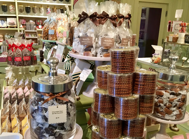 All sorts of beautifully packaged treats at Miette.