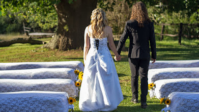 Photo: Hand in hand down the aisle