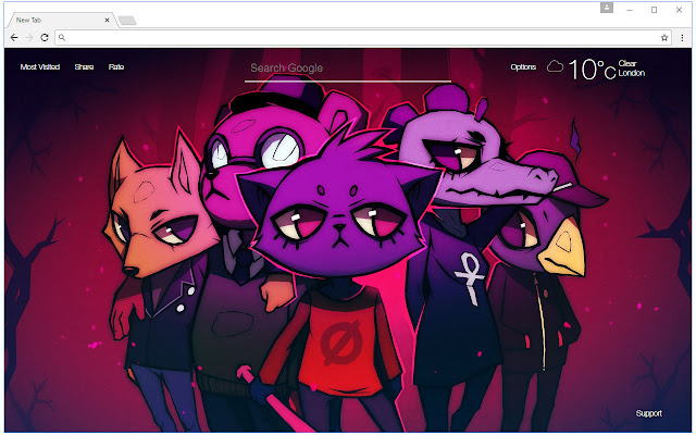 Night In The Woods Wallpaper HD New Tab