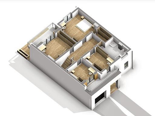Dąb 2 - Rzut piętra 3D