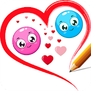Game Love Line Balls Physics Draw puzzle APK for Kindle