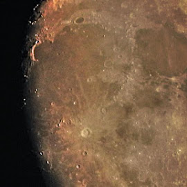 Moon surface by Bill Martin - Landscapes Starscapes ( macro, moon, craters, landscape, rough, night sky,  )