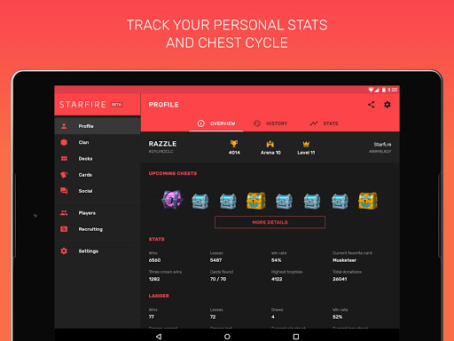 Fam for Clash Royale - chest tracker & stats for PC