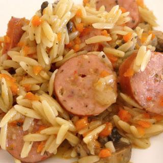 Three Cheese Italian Sausage and Vegetable Orzo Recipe