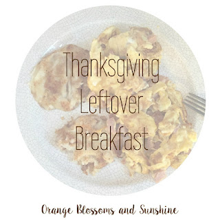 Thanksgiving Leftover Breakfast Scramble with Potato Pancakes