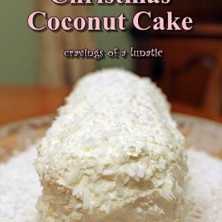 Christmas Coconut Cake.