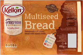 Kelkin Multiseed Bread - Gluten & Wheat Free, 400g