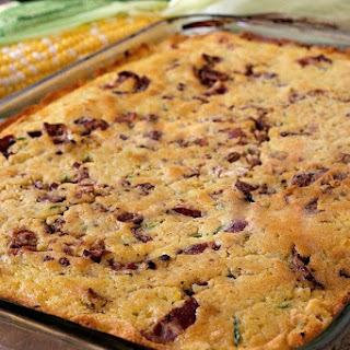 Zucchini Corn Bread with Bacon