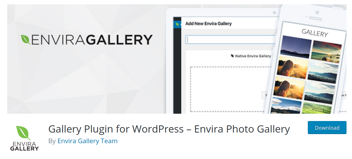 envira gallery wordpress gallery plugin header