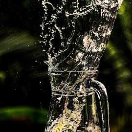 Lemon Splash by Rahul Kunhiraman - Artistic Objects Still Life ( water, splash, jug, photography, lemon )