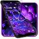 Violet Neon Black Flower Theme for PC-Windows 7,8,10 and Mac